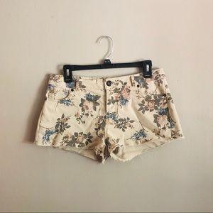 3/$15 Floral Raw Hem Shorts